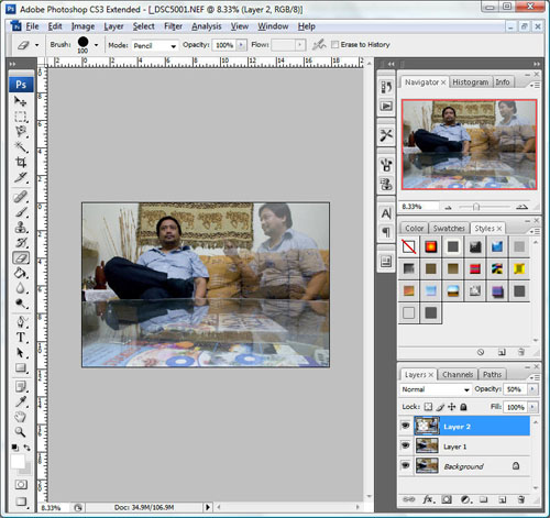 how to change only opacity in processing